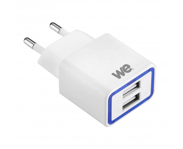 Chargeur secteur 2 USB 2,1A - WE