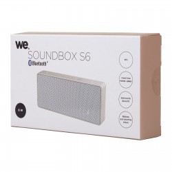 Enceinte Soundbox S6 blanc / or