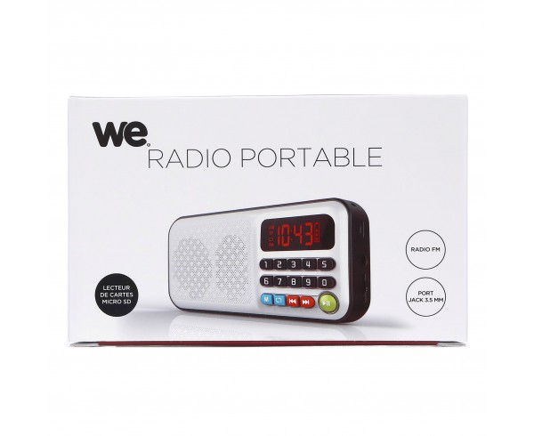 Radio portable rechargeable - WE