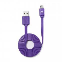 Câble USB/micro USB plat REVERSIBLE 1m Violet
