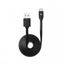 Câble USB/micro USB plat REVERSIBLE 1m Noir