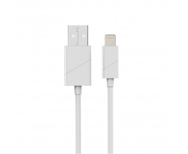 Câble apple USB/lightning coudé blanc