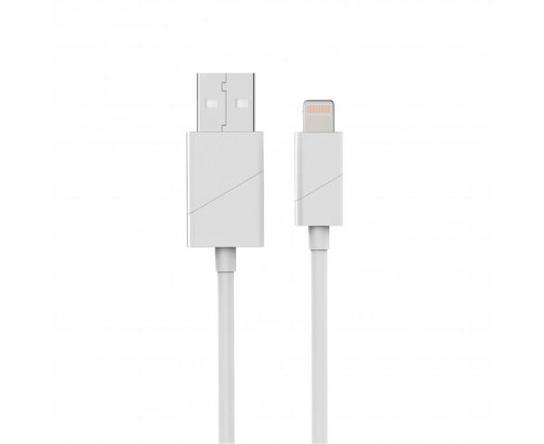 Câble apple USB/lightning coudé blanc