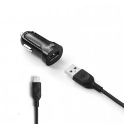 Bundle chargeur voiture + câble USB/USBC