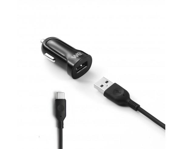 Chargeur De Voiture Usb bundle chargeur voiture + câble usb/usbc - we