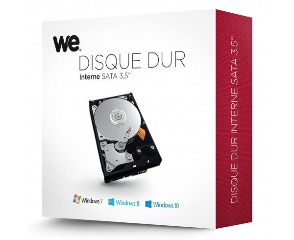 Disque dur interne 3,5'' 2 To en Retail WE