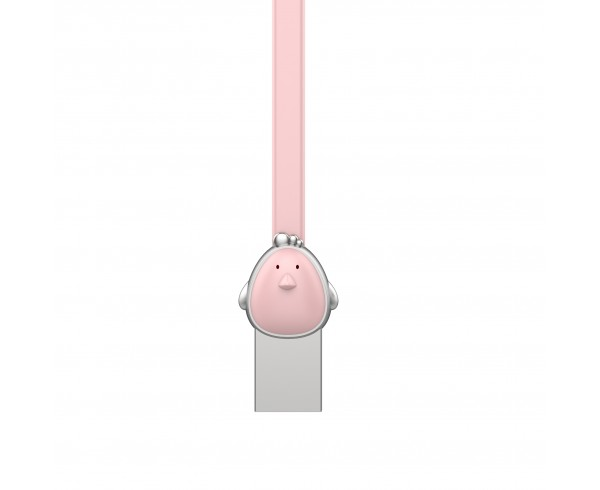 Câble poule USB / Micro USB plat 1m - Rose