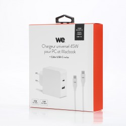 Bundle chargeur 57W + cable type C