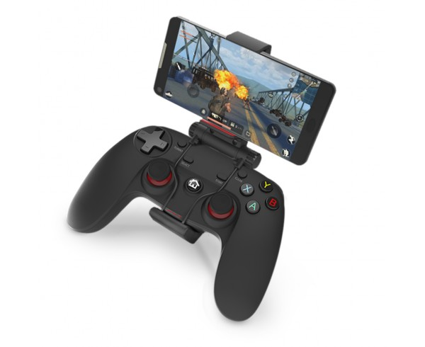 Manette Gaming sans fil Bluetooth/2.4GHz avec clip pour smartphone