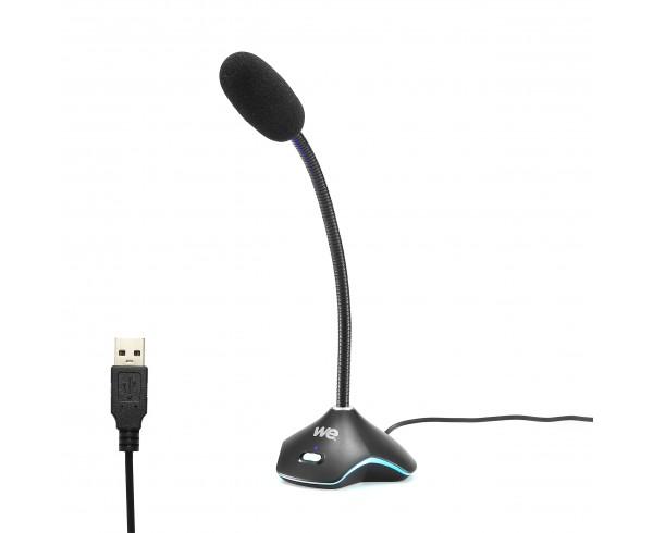 WE Gamium microphone gamer RGB avec touches de contrôle de volume et 15 modes de couleurs
